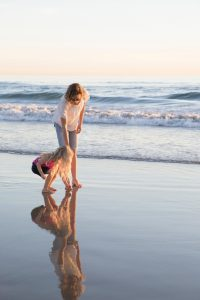 Mother and Daughter at the Beach | Suzanne Polino REALTOR